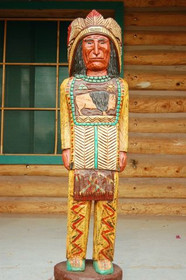Cigar Store Indian Frank Gallagher 4 Foot Southwest Decor