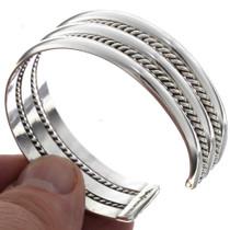 Navajo Sterling Cuff Bracelet 12724