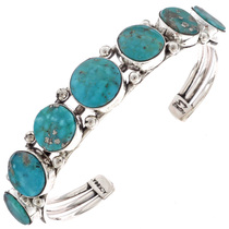 Birdseye Turquoise Sterling Bracelet 21062