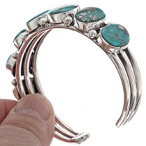 Blue Turquoise Navajo Cuff Bracelet 21062
