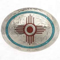 Zia New Mexico Belt Buckle 18966