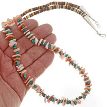 Turquoise Shell Navajo Necklace 10918