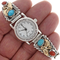 Navajo Sold Silver Ladies Watch 25168