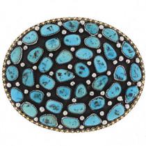 Sleeping Beauty Turquoise Belt Buckle