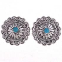 Turquoise Concho Earrings 24613