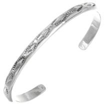 Navajo Silver Cuff Bracelet 18400