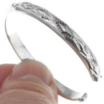 Hand Hammered Navajo Sterling Bracelet 18400