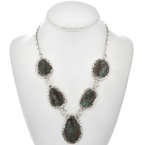 Navajo Bisbee Turquoise Necklace 17350
