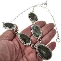 Arizona Turquoise Silver Indian Necklace 17350