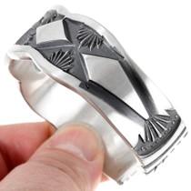 Hammered Silver Native American Bracelet 26111
