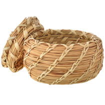 Split Stitch Tohono O'odham Lidded Basket 21407