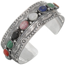 Gemstone Sterling Navajo Cuff 25975