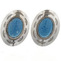 Denim Lapis Hammered Silver Cuff Links 15909