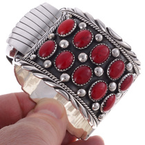Navajo Coral Cuff Watch 24478