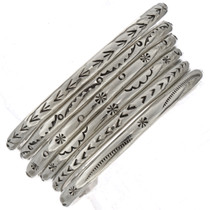 Native American Silver Bracelets To Stack 23477