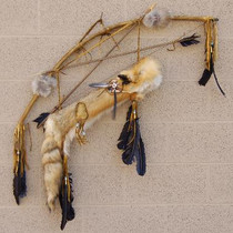 Red Fox Fur Quiver Bow and Arrows 17306