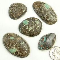 PEEK A BOO Turquoise Cabochons Various Shapes 165 Carats 1