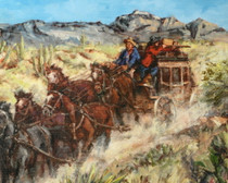 Ambushed Stagecoach Canvas Print 16372
