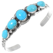 Natural Kingman Turquoise Silver Bracelet 26227