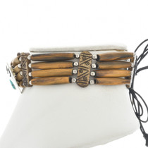 Turquoise Silver Bone Choker 15246