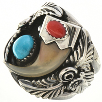 Bobcat Claw Native American Ring 23620