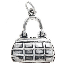 Sterling Silver Purse Chanel Handbag Charm 35454