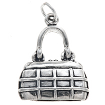 Sterling Silver Purse Chanel Handbag Charm 35454