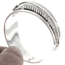 Navajo Sterling Feather Bracelet 25163