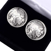 Indian Head Nickel Cuff Links 19617