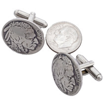 Navajo US Nickel Cuff Links 19617