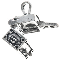 Sterling Silver Treasure Chest Charm 35457