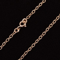 Charming Vermeil Rose Gold Link Chain Choker Necklace