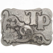Custom Silver Gold Southwest Buckle 25735