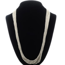 50 Strand Liquid Silver Necklace 32637