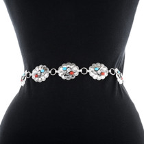 Turquoise Coral Concho Belt 24412