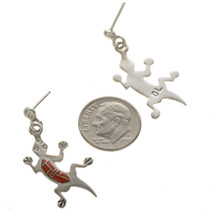 Sterling Silver Lizard Earrings 12475
