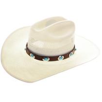 Navajo Turquoise Concho Hatband 22039