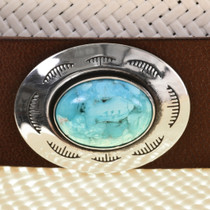 Turquoise Silver Western Hatband 22039