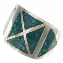 Inlaid Turquoise Mens Ring 26742
