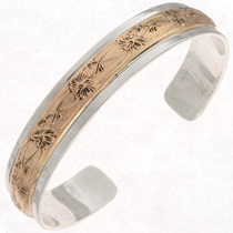 Gold Silver Native American Cuff 14807