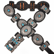Sleeping Beauty Turquoise Concho Belt 3605