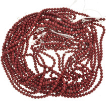 4mm Coral Beads 16 inch Long Strand