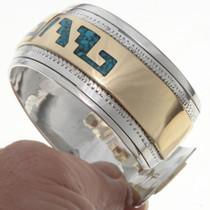Turquoise Inlaid Step Pattern Bracelet 13162