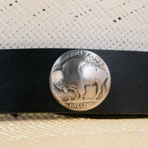 Navajo Silver Coin Hatband 24607