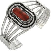 Apple Coral Silver Navajo Bracelet 14616