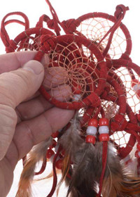 Red Buckskin Dreamcatcher 25267