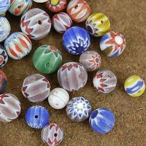 1/4 Pound of 6mm Painted Glass Beads