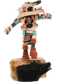 Detailed Hand Carved Kachina Carving Cultural Art 23842