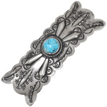 Turquoise Silver Navajo Hair Barrette 19323