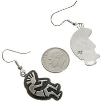 Kokopelli Silver Earrings 14399